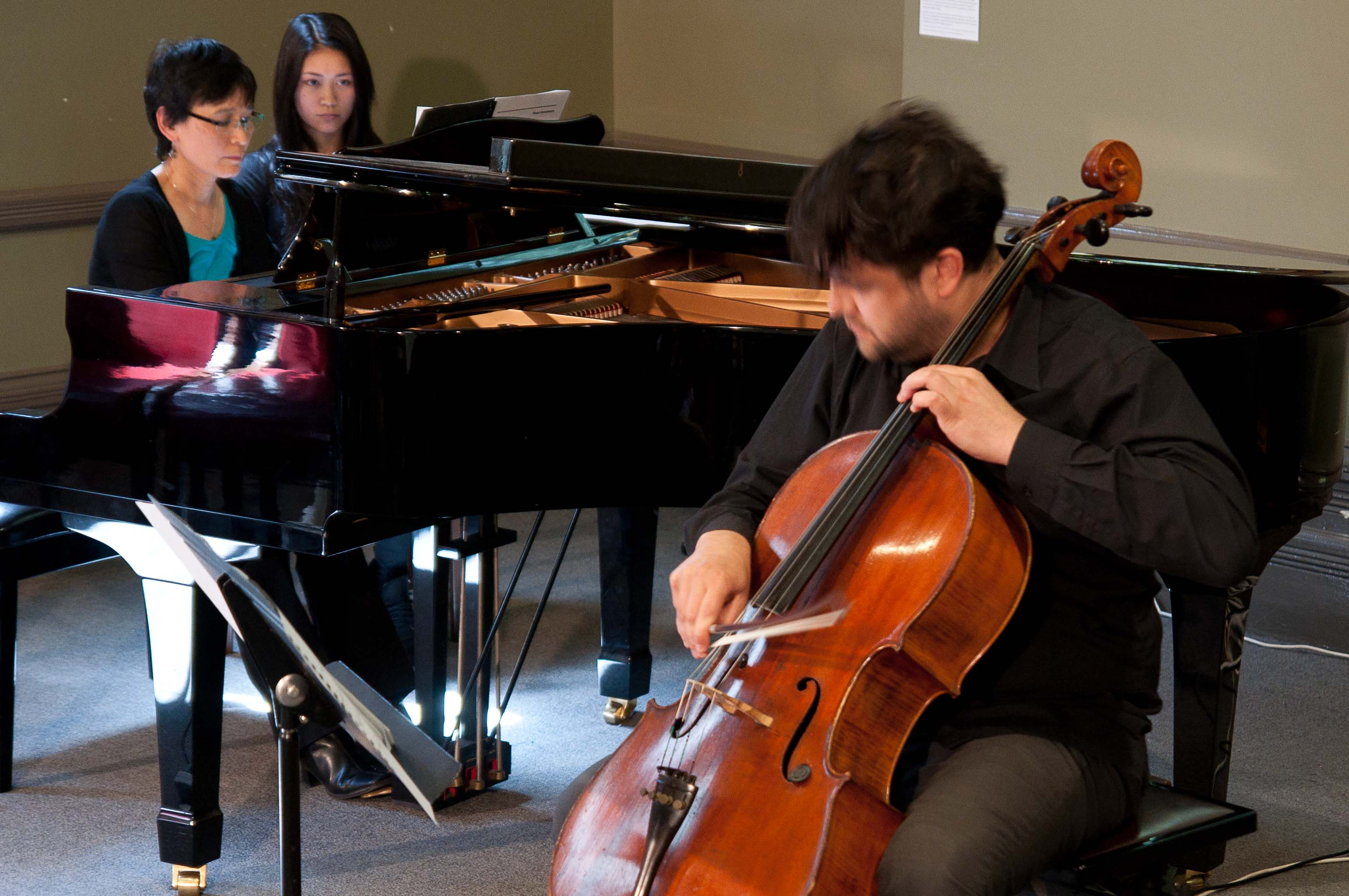 Brenna Wee (piano) and Blair Harris (cello)